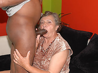 80 years age-old mom first interracial sex