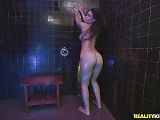 Doggy fuck in the shower with wet expand babe Katana Kombat