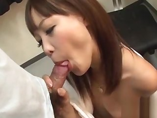 Charming asian in upskirt receives uncouth jamming