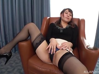 Konoka Yura likes to outing on her lover's hard penis on a difficulty armchair