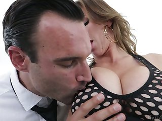 Bosomy hooker with juicy ass Alexis Fawx goes wild on hard dick with the addition of gets doggy fucked