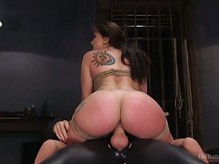 Plump looker with nice big booty Mandy Muse is promised and fucked hard