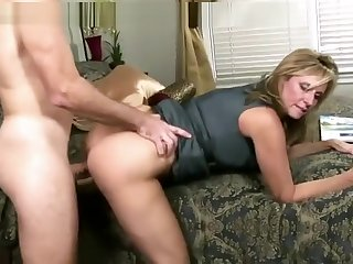 Attractive buxomy MILF Jodi West got a spermshot on will not hear of feature