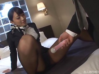Japanese stunner Kashii Ria has sperm throughout over her pretty face