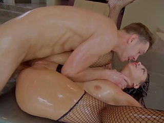 A hot bitch is getting fucked in her hot round botheration really hard