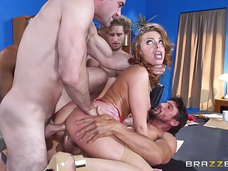 Group of interracial sexual intercourse explorers gain in value a crazy orgy