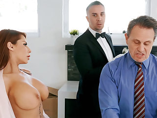Horn-mad butler is ready to anal fuck housewife