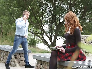 Russian tattooed chick in short skirt Mary Solaris is so into sucking lollicock