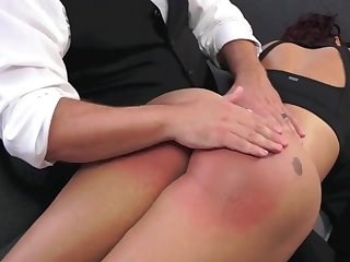 bubble butt brunette enjoys spanking and punishment