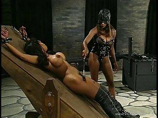 Tattooed toddler plays slave tortured and spanked in a nasty BDSM shoot