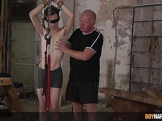 Sebastian Kane and Nathan Reyes delve into an low-spirited bondage encounter