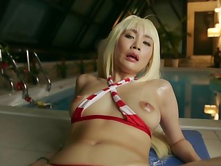 Asian, Blonde, Brunette, Japanese, Orgasm, Pov