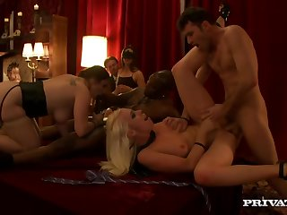 These blondes enjoy this orgy exceedingly