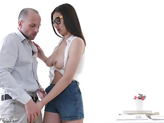 Attracting Russian girlfriend April Storm licked coupled with penetrated