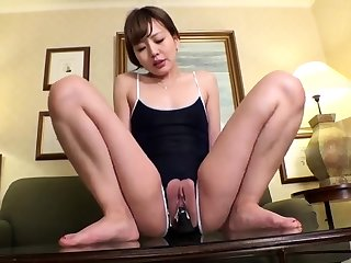 Yuzuru Masturbate Sizzling Asian Slutty Teen Enjoys Her Up