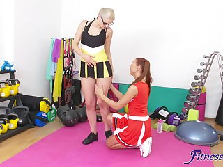 Aside FFM threesome on the floor with sexy cheerleader Kety Pearl