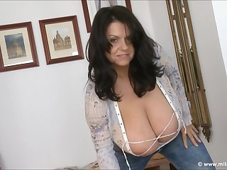 Big tits, Brunette, Fetish, Milf