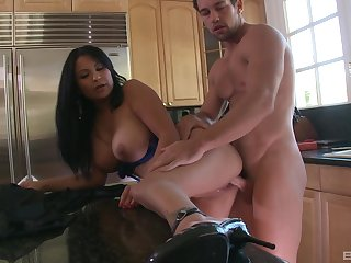 Balls deep fucking in the pantry overage adjacent to cum on large confidential