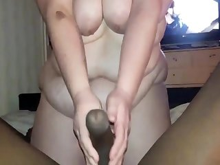 Bbwbootyful Sucking My Boobs And Teasing Bbc In Stockings, Sucking