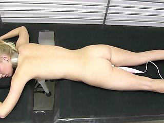Arienh on the milking bed