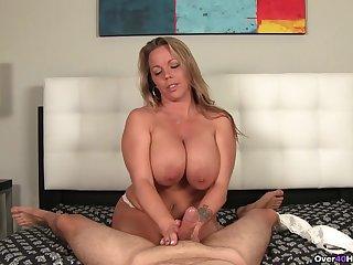 Shameless mature filmed when strapping handjob and undressing
