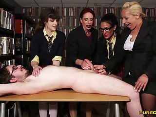CFNM at the last moment scenes of amateur XXX with a group of fine women