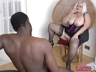 Granny Gobbles Black Cock And Gets Banged - Undergarments