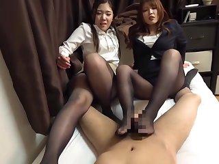 Asian, Fetish, Japanese, Pov, Stockings, Threesome