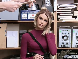 To get released guilty sexy auburn hottie Emma Hix gets poked hard