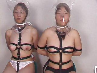 Pantyhose face suffocation