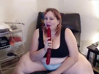 Fat Red SSBBW on Cam
